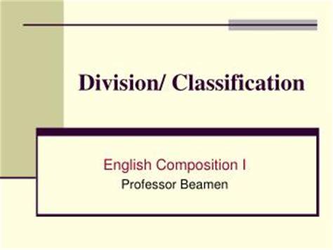 Classification & Division Essay by Michelle Lopez on Prezi